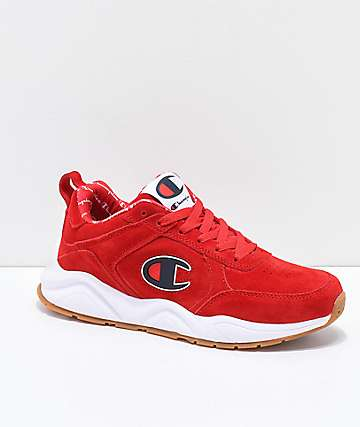 Champion Men's 93 Eighteen Big C Red & White Suede Shoes