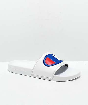 Champion Men's IPO White Slide Sandals