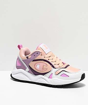 Champion NXT Spiced Almond, White & Purple Shoes