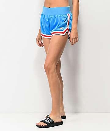 Champion Notch shorts de malla azul