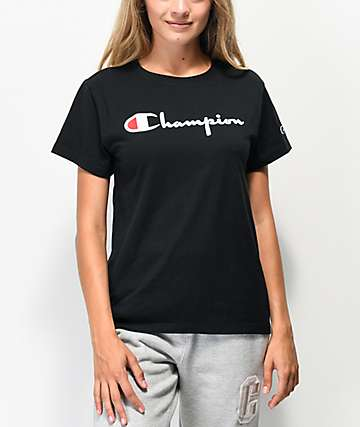 Champion OG Direct Flock Black T-Shirt