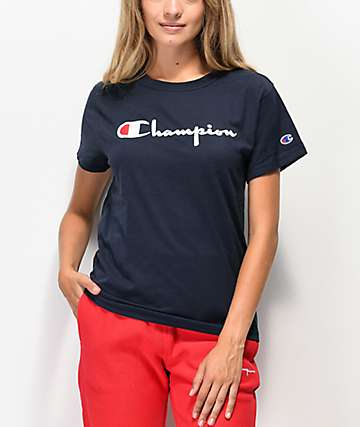 Champion OG Direct Flock Script camiseta azul marino