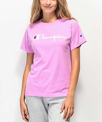 Champion OG Direct Flock camiseta orchidea