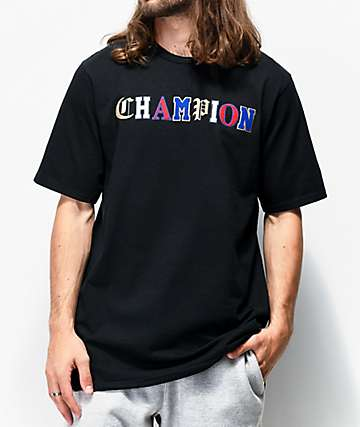 Champion Old English High School Logo camiseta negra