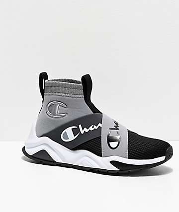 Champion Rally Crossover Grey & Black Shoes