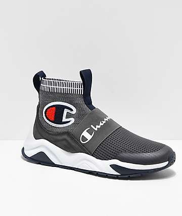 Champion Rally Pro Grey & White Shoes