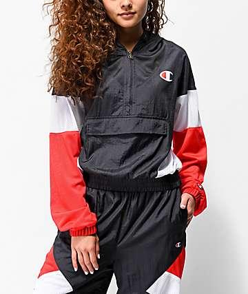 Champion Red, White & Navy Blue Nylon Warm Up Jacket