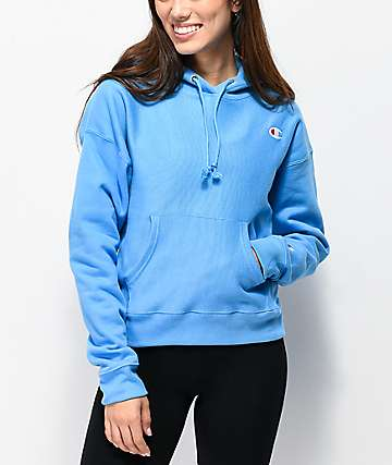 Champion Reverse Weave Active Blue Hoodie