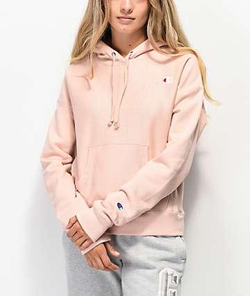 Champion Reverse Weave Almond Pink Hoodie