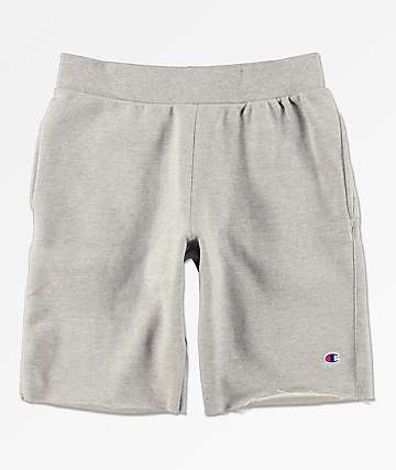 Champion Reverse Weave Cut Off Oxford Grey Sweat Shorts