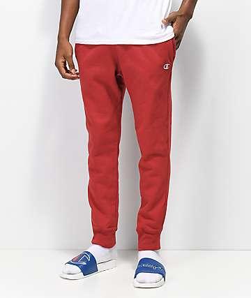Champion Reverse Weave Dark Red Sweatpants