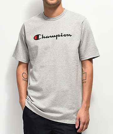 Champion Script Heather Grey T-Shirt