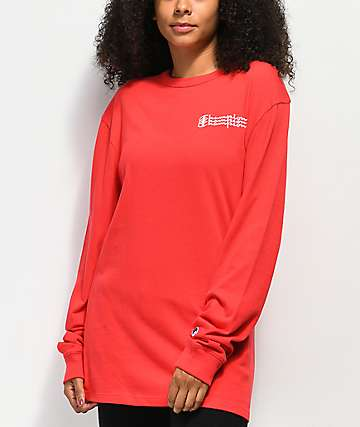 Champion Script camiseta roja de manga larga