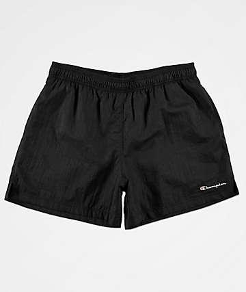 Champion Script shorts de nylon negro