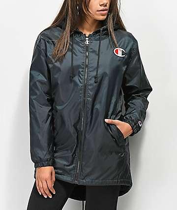 Champion Sherpa Lined Black Elongated Jacket