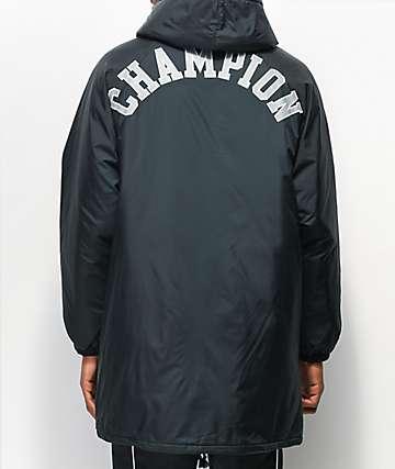 Champion Sideline chaqueta negra aislada