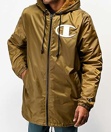 Champion Stadium Gold Puffer Jacket
