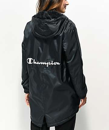 Champion Stadium Sherpa Black Jacket