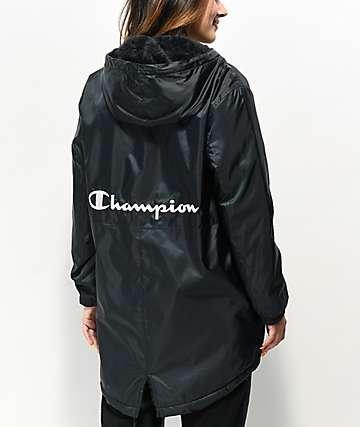 Champion Stadium chaqueta de sherpa negra