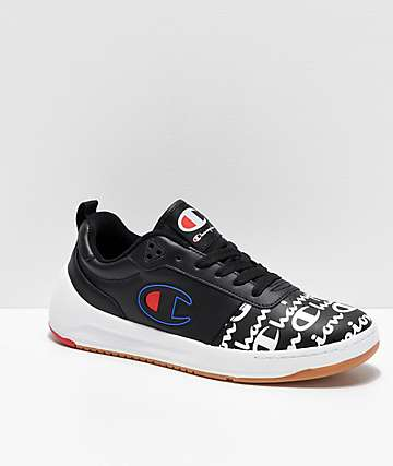 Champion Super Court Low Print Black Shoes
