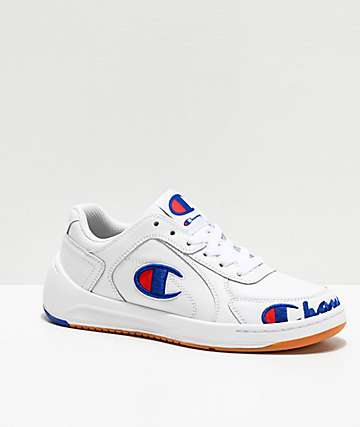 Champion Super Court White Leather Shoes
