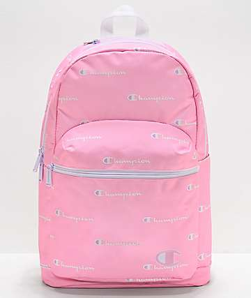 Champion Supercize Script Logo Pink Backpack
