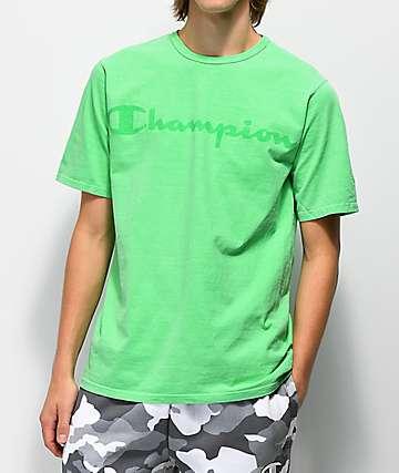 Champion T0336 Heritage Script Green T-Shirt