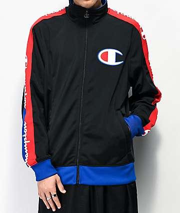 Champion Tricot chaqueta de chándal negra