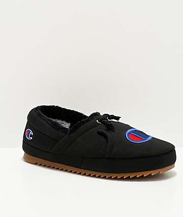 Champion University Black Slippers