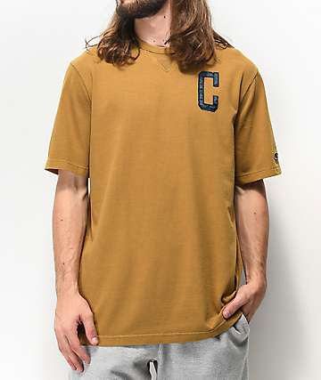 Champion Vintage Wash Gold Knit T-Shirt
