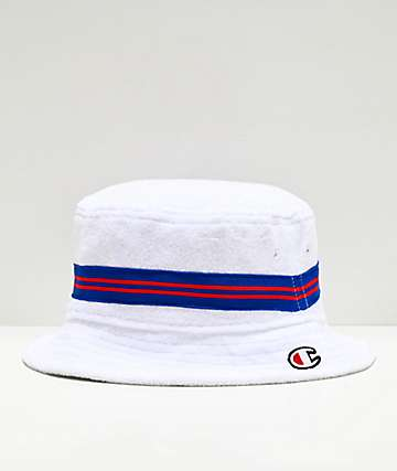 Champion White French Terry Bucket Hat
