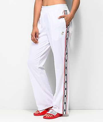 Champion White Logo Taping Track Pants