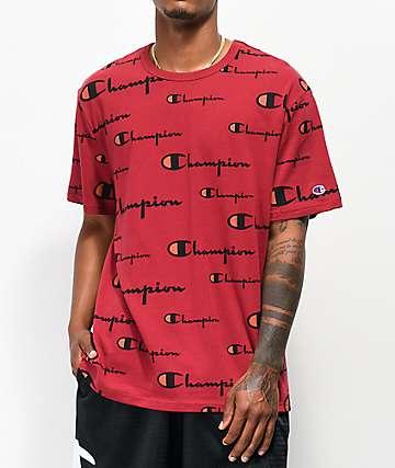 Champion Wrap Around Script Cherry T-Shirt