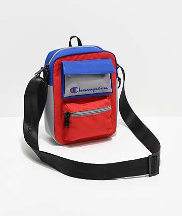 Champion bolso de mano azul, rojo y gris