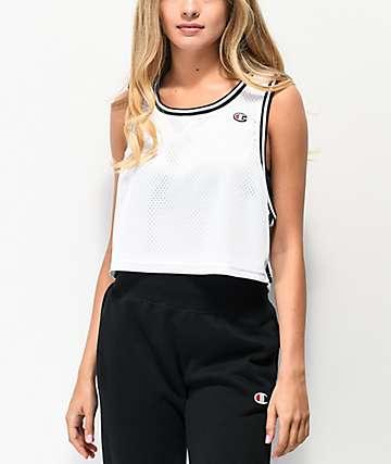 Champion camiseta corta reversible de malla blanca