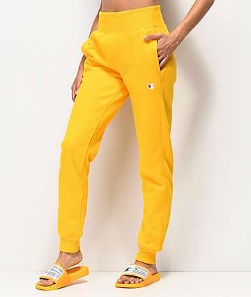 Champion jogger pantalones deportivos de tejido inverso dorado