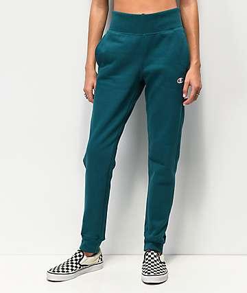 Champion jogger pantalones deportivos de tejido inverso jade