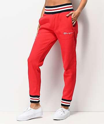 Champion jogger pantalones deportivos rojos