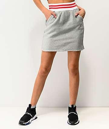 Champion mini falda gris acanalada