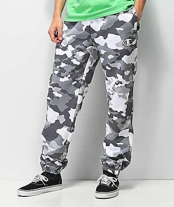 Champion pantalones deportivos de camuflaje gris