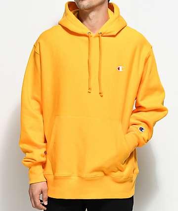 Champion sudadera con capucha dorada de tejido inverso