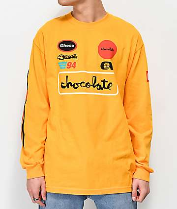 Chocolate Rally Gold Long Sleeve T-Shirt