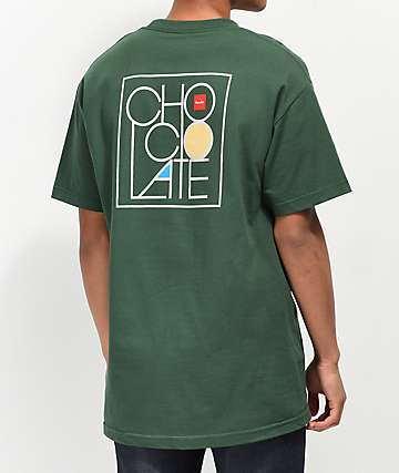 Chocolate camiseta moderna verde oscuro