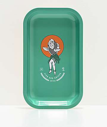 Chomp Mermaid Teal Green Tray
