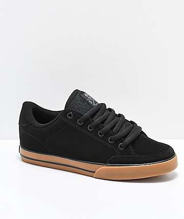 Circa Lopez 50 Black & Gum Skate Shoes