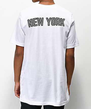 City Chapters New York Checkered White T-Shirt