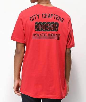 City Chapters Spokane Rose Red T-Shirt
