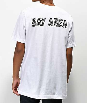 City Chapters The Bay Area Checkered White T-Shirt