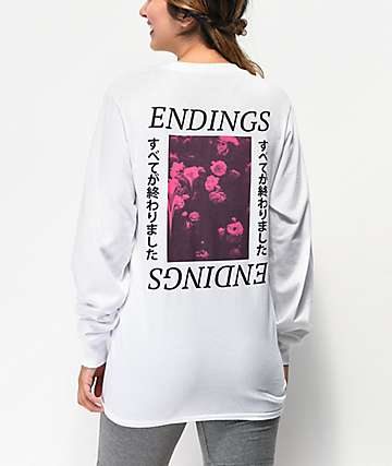 Civil Endings White Long Sleeve T-Shirt