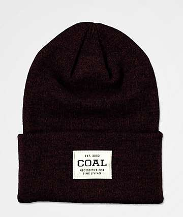 Coal Uniform Dark Burgundy Beanie
